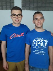 Адальберт Макарович із тренером Сергієм Оришичем