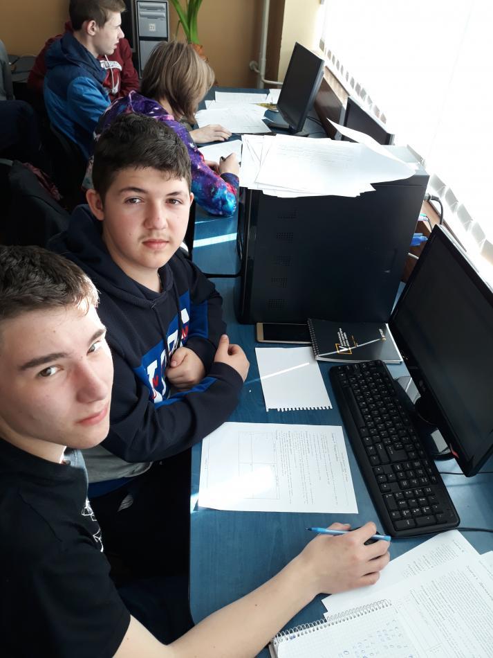Переможці серед учнів - Василь Меренич та Андрій Симкін